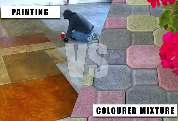How to colour cement and concrete