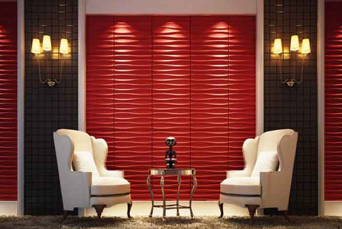 Bamboo fiber panels for wall covering