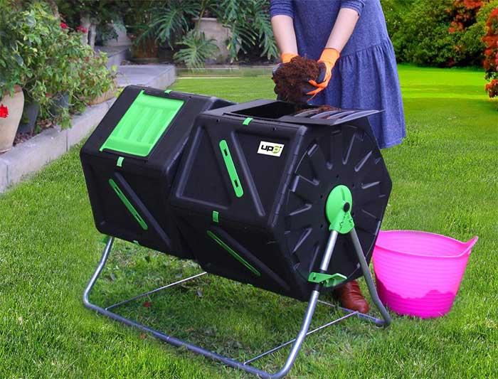 Compost tumbler makes composting easier