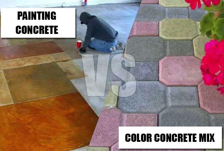 How To Color Concrete Mix