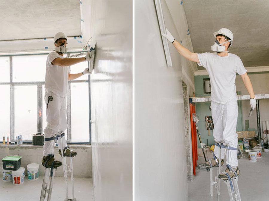 How To Use Drywall Stilts Safely