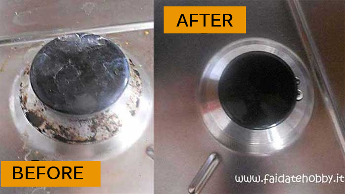 How to clean fouled gas burners