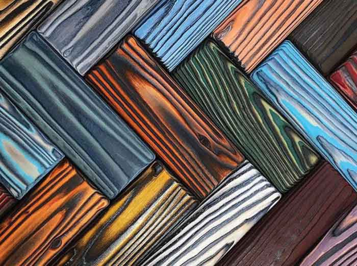 Rainbow Coffee Table: when Wood is Multicolor