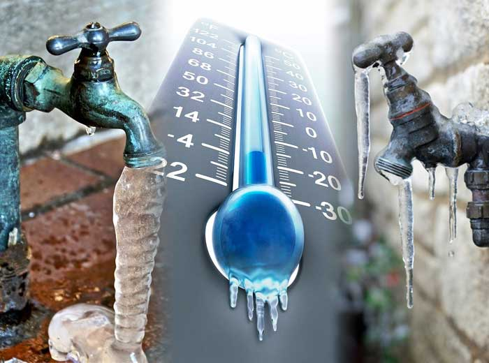 How to prevent water from freezing in pipes